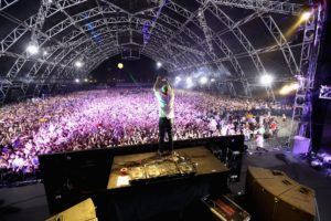 INDIO, CA - APRIL 13:  DJ Moby performs onstage during day 2 of the 2013 Coachella Valley Music & Arts Festival at the Empire Polo Club on April 13, 2013 in Indio, California.  (Photo by Christopher Polk/Getty Images for Coachella)